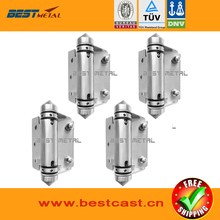 4 Pieces Satin polish 316 Stainless steel Self Closing Hinges of glass to FLAT  for glass swimming pool fencing