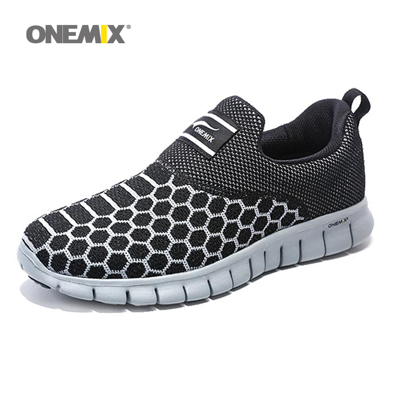 Onemix 2016 mens running shoes for men breathable outdoor walking shoes male sport sneakers light jogging shoes free shipping<br>