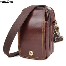 TAILUTE Limited buying mini casual bags Multifunction Leather Messenger Bag Men's fashion pocket Brown brand of small bags