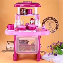 Kitchen Toys Beauty Cooking Toy Pretend Play Set for Children Girls Toys Kitchen Cookware Pretend Role Play Toy with Music Light