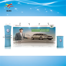4x2.5m OEM Size Straight Exhibition Booth Pop Up Display Stands For Trade Show Events and Advertising Backdrop Wall Banner