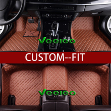Veeleo 8 Colors Leather Car Floor Mats for Lincoln Navigator 2006-2016- 7 Seats Car Mat Front & Rear Liner Waterproof 3D Carpet(China)