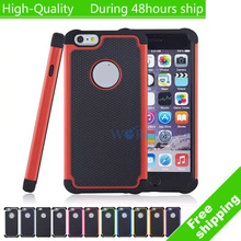 "High Quality Football Style Rubber Hybrid Impact Case Cover For iPhone 6 Plus 5.5""(China)"