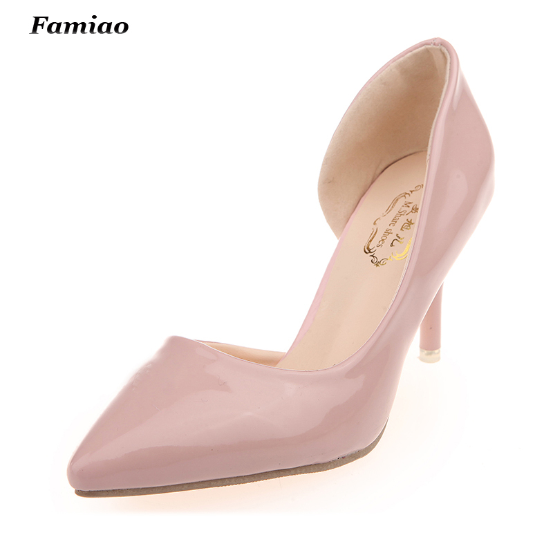Solid Thin High Heels Pumps Pointed Toe Ladies Shoes Spring/Autumn Chaussure Femme Fashion Side Cut outs Shoes Woman<br><br>Aliexpress