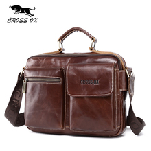 CROSS OX 2017 Spring New Men's Handbag Satchel Genuine Leather Bags For Men Shoulder Bag Briefcase Messenger Bag HB567M
