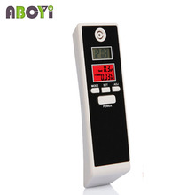 10pcs Factory Supply CE Red Backlight Professional Digital Breath Alcohol Tester Portable Breathalyzer Detector Dual LCD Displ(China)
