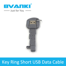 [Bvanki] China Mobile Accessories Market China wholesale portable cross samll shape key chain micro usb data cable for samsung