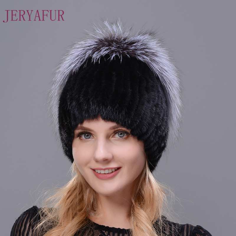 Winter Warm Cap Rabbit Fur Flower With Fox Fur On The Top New Style Natural Imported Mink Fur Warm Hats For Women Ear Warm CapÎäåæäà è àêñåññóàðû<br><br>