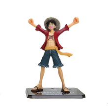 16cm Japanese Anime Cartoon One Piece New World Luffy Action Figures PVC Toys Doll Model Collection Box(China)