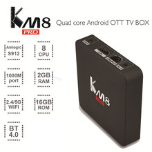 Hot Sale Octa Core KM8 Pro Android Wifi TV Box 2GB RAM And 16GB ROM Portable Wifi 4K TV Stick Android 6.0 Family TV Center Box