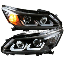 For HONDA 2013 TO 2014 year For Accord LED Head Lamp U style LD(China)