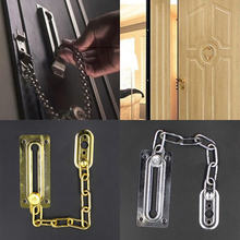 New Home Chrome Chain Door Guard Latch Security Lock Cabinet Latches Slide Bolt For Door Accessories
