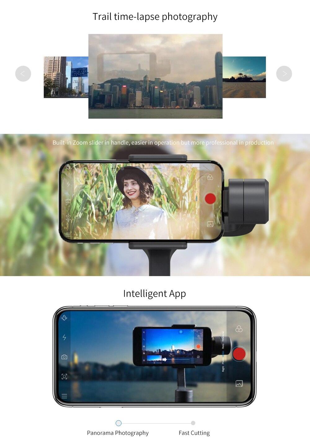 Feiyu vimble 2 Smartphone 3-Axis Handheld Gimbal Stabilizer bluetooth wireless selfie stick for iPhone X Gopro sjcam Smooth Q 4