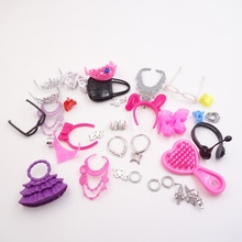 High Quality toys Accessories Bags Necklace Combs Shoes Earings for Barbies Doll Kids Gift good quality(China)
