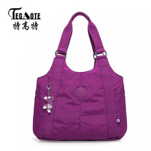 TEGAOTE Women Handbag Large Shoulder Bag Nylon Casual Tote Famous Brand Purple Handbags Mummy Diaper Bags Waterproof Bolsas(China)