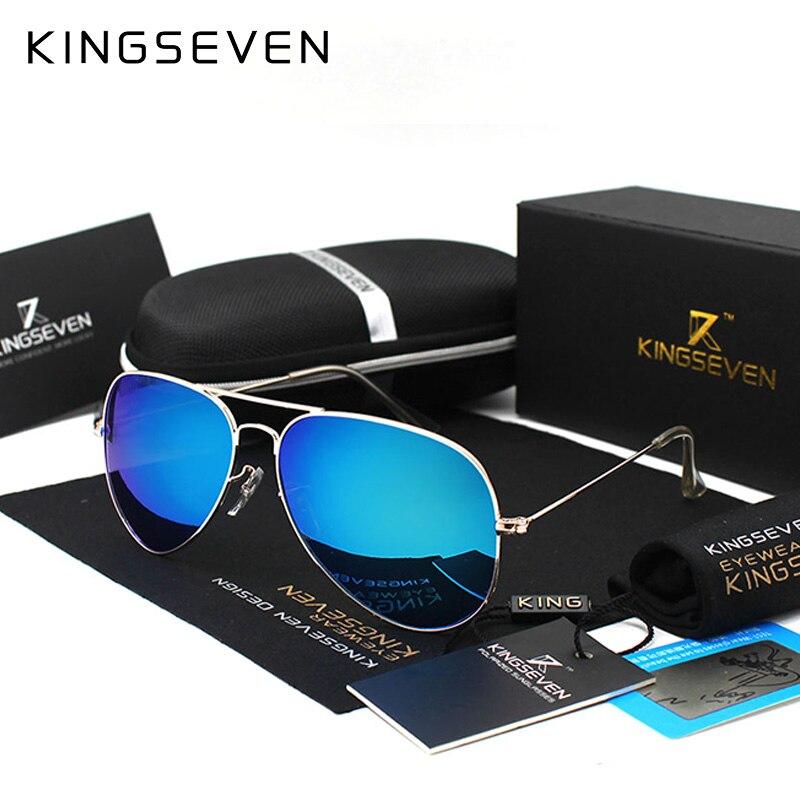 KINGSEVEN Classic Fashion Polarized Sunglasses Men/Women Colorful Reflective Coating Lens Eyewear Accessories Sun Glasses 3026<br><br>Aliexpress