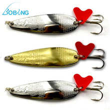Bobing 43mm-55mm Stainless Steel Metal Spinner Paillette Sequins Hard Fishing Spoon Bait Lure 3/6/8/10/12/14g Spinner Spinners