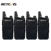 4pcs Handy Walkie Talkie Retevis RT22 2W 16CH UHF 400-480MHz CTCSS/DCS VOX Scan Ham Radio Hf Transceiver Portable 2 Way Radio(China)