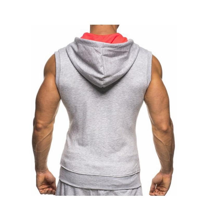 Male Bodybuilding Hoodies Fitness Clothes Hoody Cotton Hoodie Men Sweatshirts Men's Sleeveless Tank Tops Casual Vest 18