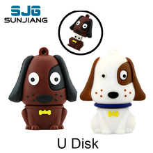 Cartoon dog usb flash drive Full Capacity pen drive memory stick pendrive u disk 4gb 8gb 16gb 32gb 64GB flash card