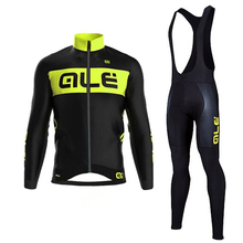 2017 Winter Pro Mens Cycling Jersey ALE Thermal Fleece Cycling Clothes Bicycle Winter Maillot Ropa Ciclismo invierno #DT-032