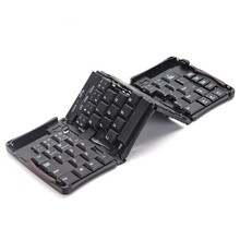 Pcocean Intelligent Mini Pocket Folding Keyboard Aluminum Bluetooth Wireless Keyboard Travel Keypad for PC Tablet iphone ipad
