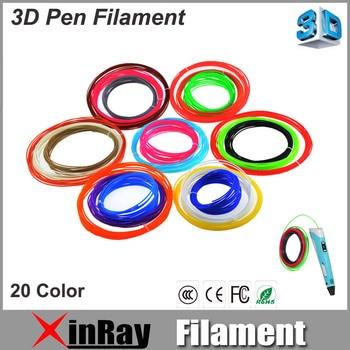 Xinray Filament for 3D Pen 1.75mm 20color 100Meter PLA Filament For 3D Drawing Pen Colorful 3D Painting PLA 3D Printer Material