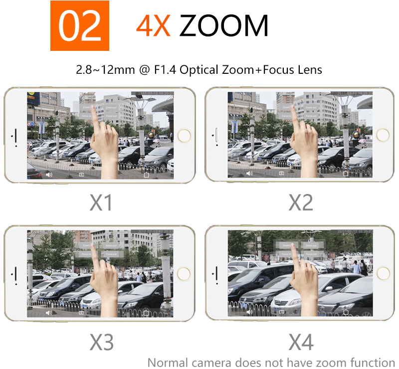 Outdoor Waterproof IP  camera Zoom 04