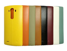For LG G4 Leather Back Cover Battery Cover case Rear Housing Replacement Mobile Phone bag for G4 all version with NFC