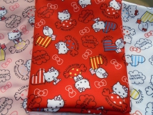 145*50cm Japan Hello Kitty KT Textile Polyester Fabric Patchwork ,curtain. tablecloth, doll, Printed Quilting Home For Sewing