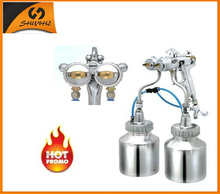 SAT1200 Hot Sales Color Silvering Chrome Plating Dual Heads Spray Gun Double Head Spray Gun 1.3mm Nozzle Sprayer