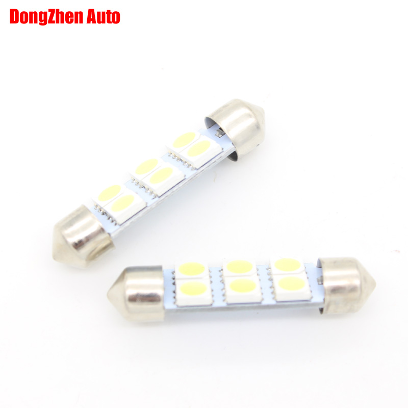 Dongzhen 10X 24v  6SMD LED 41mm  White Car Dome Festoon Interior Light Bulbs Auto Car Festoon Licence Plate Dome Roof<br><br>Aliexpress