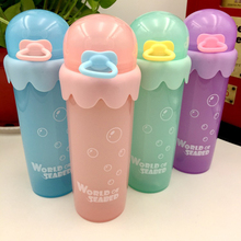330ml Cartoon Water Bottles PP Material Frosted Leak-proof Health Portable Summer Outdoor Sport Water Water Bottle Kids Gift F