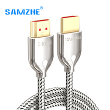 SAMZHE 4K*2K/60Hz HDMI 2.0 Cable Audio&Video Cable 32AWG HDMI UHD Cable for Projector XBox TV BOX Laptop and TV Screen(China)