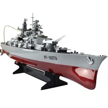 RC Boat Warship 4CH Radio Control Hovercraft Boat Battle Wagon High Simulation Military Ship Electronic Model Toys(China)
