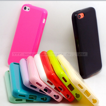 5C Cases For Apple iPhone5C iPhone 5C TPU Protective Shell Soft Silicone Phone Cover Cute Color Case 2017 Newest Arrival