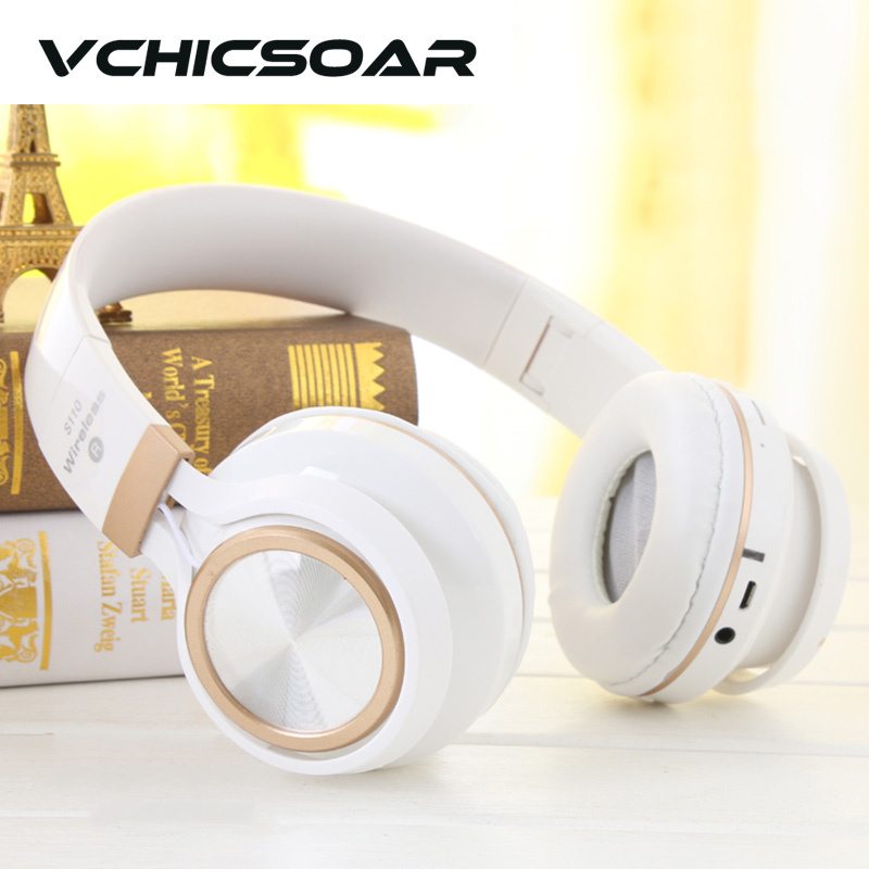 VCHICSOAR Wireless Headsets Bluetooth Headphones with Mic Foldable Portable  HiFi Stereo Heavy Bass Earphones for iPhone Samsung<br><br>Aliexpress