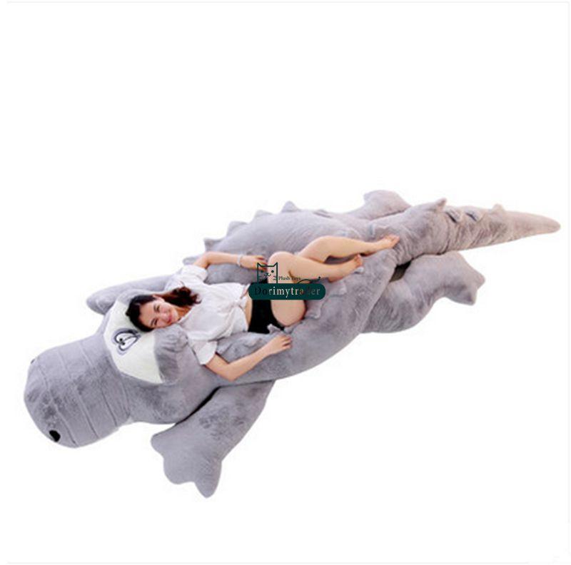Dorimytrader Biggest 118\`\` 300cm Jumbo Crocodile Toy Plush Soft Stuffed alligator Sofa Tatami Free Shipping DY61038 (1)