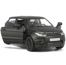 RMZ City 1/36 Scale Black Matte 5 Inch rover Range Evoque Die Cast Car Model Children Gift