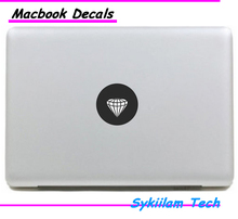Cool Diamond for apple logo Creative Sticker for Macbook Air 11 12 13 Pro 13 15 17 Retina Skin Laptop Computer Vinyl Decal