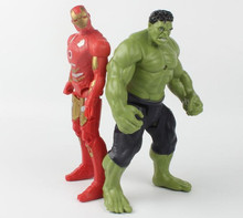 20cm Flash The Avengers 2 Iron Man Hulk Action Figures Kids Brinquedos Boys Birthday Gift Original Box(China)