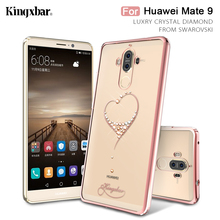 KINGXBAR Cover for Huawei Mate 9 Case Coque Original Swarovski Crystal Diamond Plated Case for Huawei Mate 9 Cover Shell Mate9