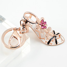 High heels keychain - New Product Fancy Metal High Heel Shoe Model Keychain Keyring For Gift #1-17206