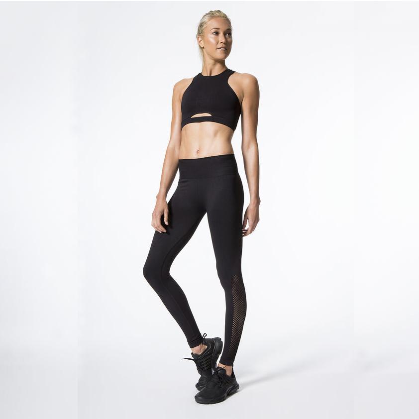 New Women Push-up Sporting Leggings Black Fashion Net Hollow Elastic Skinny Fitness Leggings Sporting Clothing For Women 5