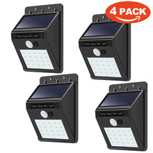Dropshipping  4 Pack - Solar Power Sensor Wall Light Security Motion Weatherproof Outdoor Lamp