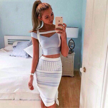 Buy 2017 New Summer Bandage Dress Women Short Sleeve V-Neck 2 Two Piece Set Elegant Lady Evening Party Bodycon Sexy Dress Wholesale for $41.22 in AliExpress store