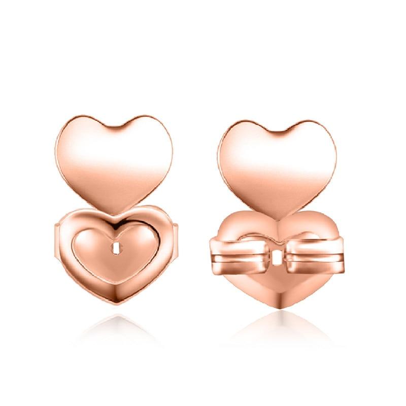 Ms Betti heart clover crown earring listers back set02