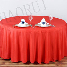 10pcs Customize Table Cover Polyester Cotton Fabric 90''Round Red Luxury Dining Tablecloth Wedding Party Banqut FREE SHIPPING