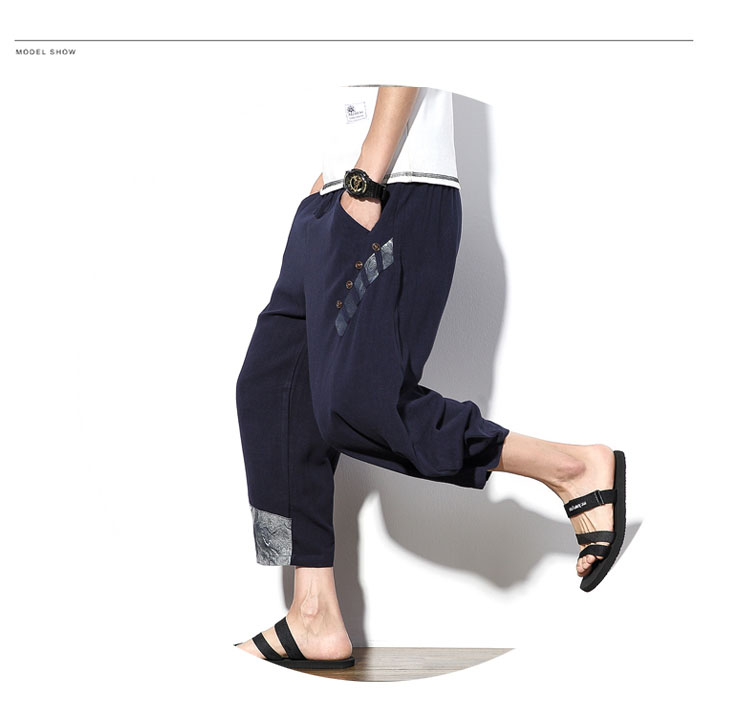 Aolamegs Mens Casual Pants Cotton Linen Loose Large Ankle-length Pants 2017 Summer Chinese Style Male Japan Harajuku Cross-pants (7)