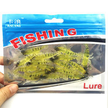 15pcs/lot Fishing Lures 4.7cm/1.28g Artificial Shrimp Lures Soft Fishing Baits crank bait slow sinking plug Worn Fake lure 122(China)